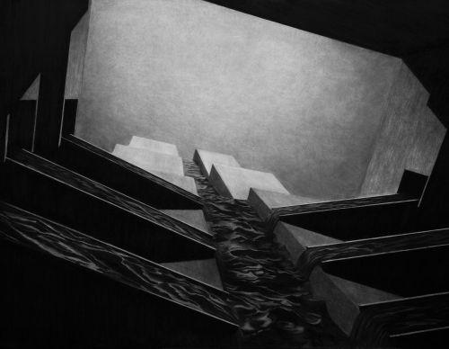 Charcoal drawing   2016   205 x 120 cm