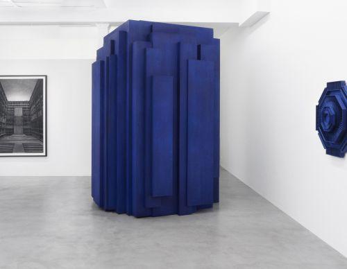 200 x 200 x 300cm, wood, cobalt ink, 2017