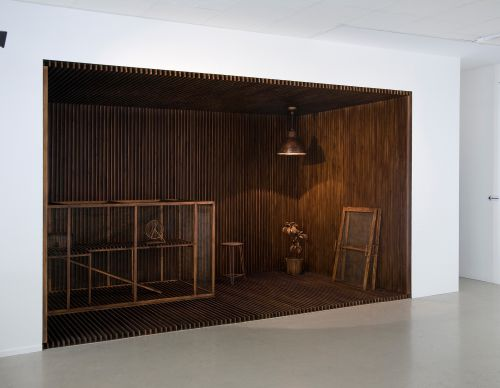 420 x 250 x 250cm   stained wood